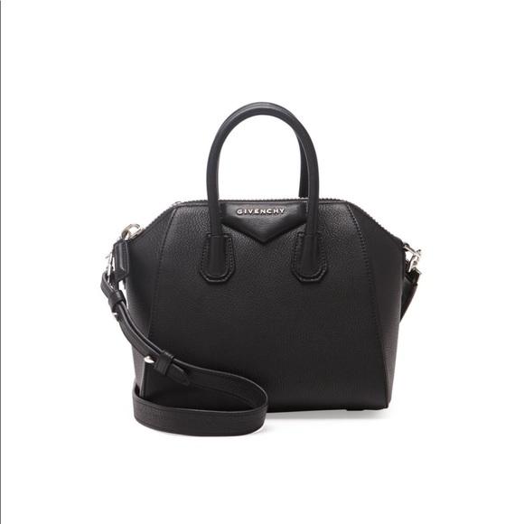 04e8829bf2 Givenchy Handbags - Givenchy Mini black antigona grained bag
